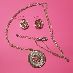 Necklace & earrings set,  believed to be Corocraft